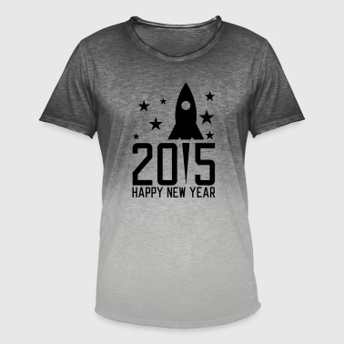 Happy New Year Happy New Year 2015 - Männer T-Shirt mit Farbverlauf