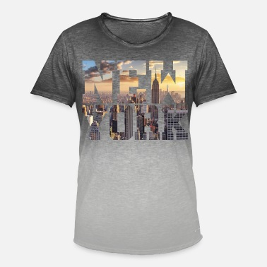 New York New York New York - Men's T-Shirt with colour gradients