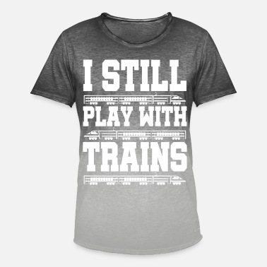 Steam Train trains train steam locomotive - Men's Colour Gradient T-Shirt