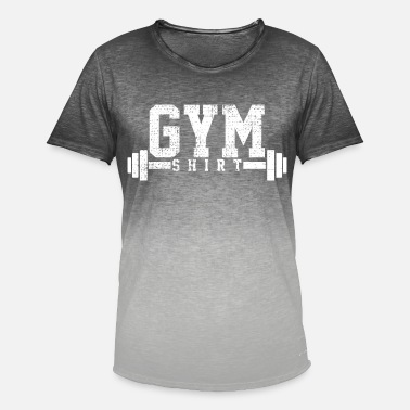 Gym Fitness Bodybuilding - Mannen T-shirt met kleurverloop