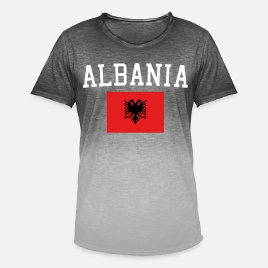 Med Albansk Flag Albansk flag - Herre T-shirt i colour-block-optik