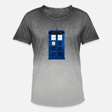 Doctor Doctor Who Police Box - Men's Colour Gradient T-Shirt