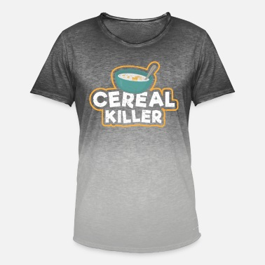 Cereal Cereal killer cereal marshmallows gift - Men's Colour Gradient T-Shirt