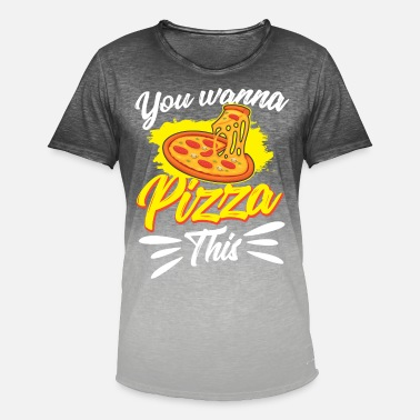 Dish Pizza Italy Food Cheese Dish Dish Tomato - Men's Colour Gradient T-Shirt
