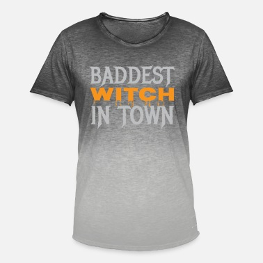 Baddest Baddest Witch In Town - Men's Colour Gradient T-Shirt