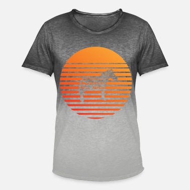 Zebra silhuette in the sunset - Men's Colour Gradient T-Shirt
