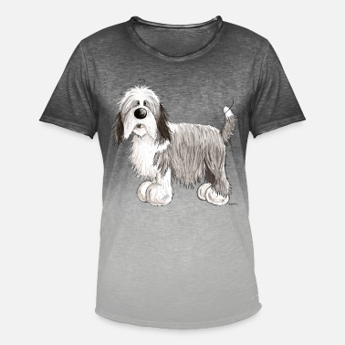 Collie El Collie barbudo - Camiseta degradada hombre