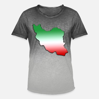 Iran Flag Iran - Men's Colour Gradient T-Shirt