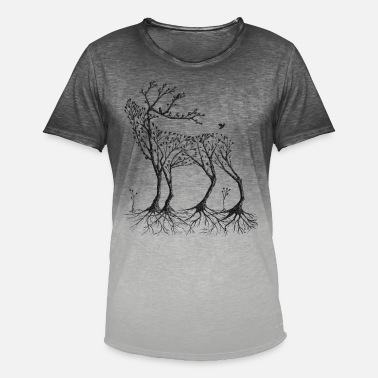 Cool Forest deer in black - Men's Colour Gradient T-Shirt