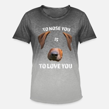Rhodesian Ridgeback To Nose You - T-shirt med färgtoning herr