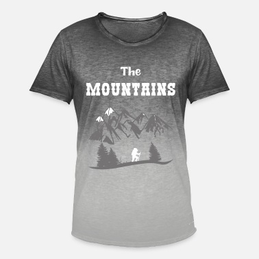 The Mountains Hiking Gifts Shirt - Men's Colour Gradient T-Shirt