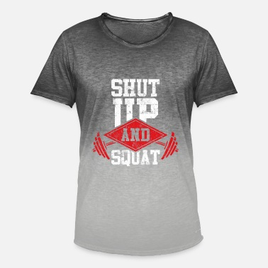 Squats squat fitness squats - T-shirt i colour-block-optik mænd