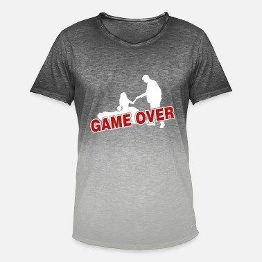 Game Over Game over - the game is over - Men's Colour Gradient T-Shirt