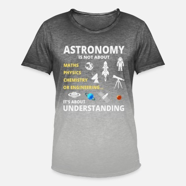 Astronomi Astronomi - T-shirt i colour-block-optik mænd
