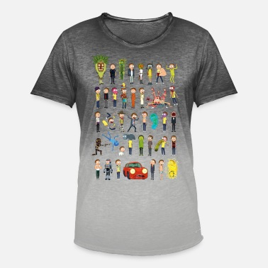 Morty Smith Rick and Morty Versionen von Morty - Männer Farbverlauf T-Shirt
