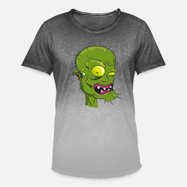 Gruselig Zombie Halloween Geschenkidee gruselig - Men's Colour Gradient T-Shirt