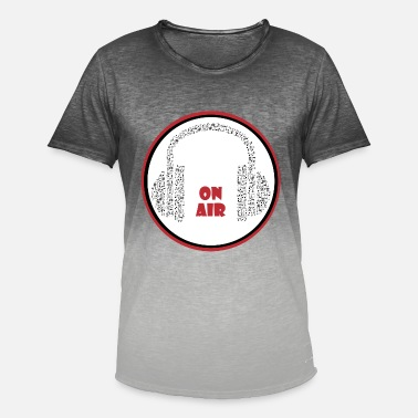 Air Music Headphones Recording Listening Speaking On Air - Men's Colour Gradient T-Shirt