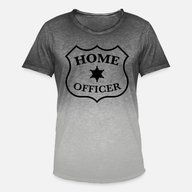 Home Officer Badge (kantoor, baan, badge, patch) - Mannen kleurverloop T-Shirt
