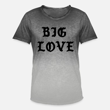 Big Love Big Love Quote - T-shirt i colour-block-optik mænd