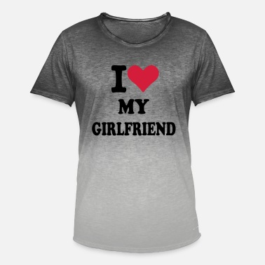 I Love My Girlfriend Girlfriend - Mannen kleurverloop T-Shirt