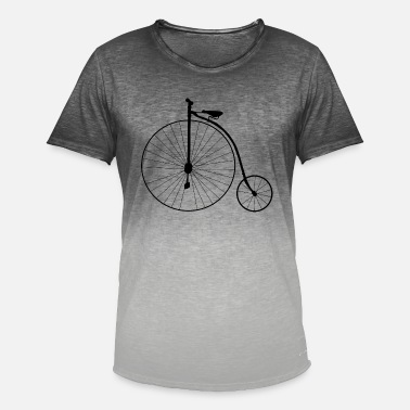 Bicycles High Wheel Old School Retro Bicycle - Men's Colour Gradient T-Shirt