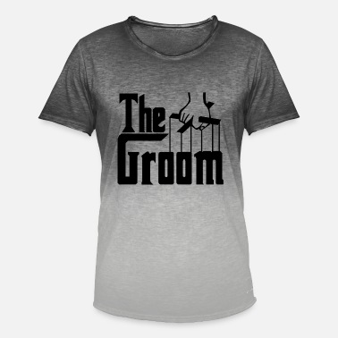 Groom The Groom. Stag Party. Husband to Be. Bridegroom. - Men's Colour Gradient T-Shirt
