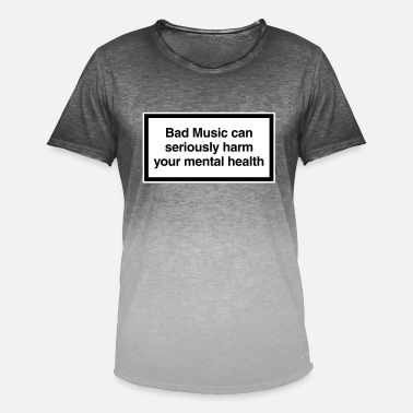 Bad music harm you design - Men's Colour Gradient T-Shirt