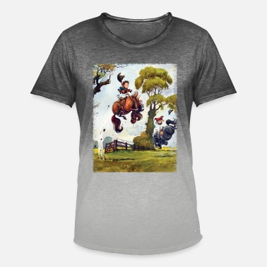 PonyRodeo Thelwell Cartoon - Camiseta degradada hombre