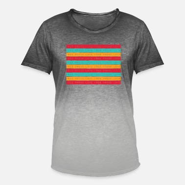 Freedom Pride love homosexuality words gift - Men's Colour Gradient T-Shirt