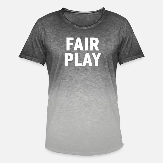 Gift Idea T-Shirts - Fair play gift - Men's Colour Gradient T-Shirt dip dye grey
