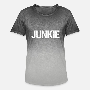 Junkie junkie - T-shirt i colour-block-optik mænd