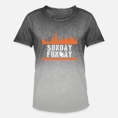 Fun sunday football - Men's Colour Gradient T-Shirt