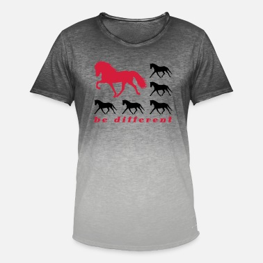 Islandpferd Be Different be different - Männer Farbverlauf T-Shirt