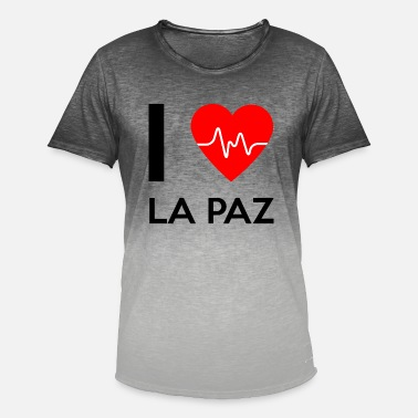 I Love La I Love La Paz - I love La Paz - Men's Colour Gradient T-Shirt
