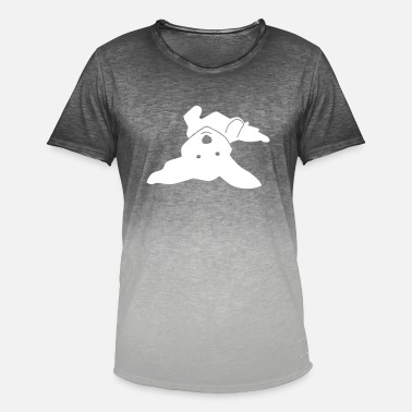 Havanese on his back - Men's Colour Gradient T-Shirt