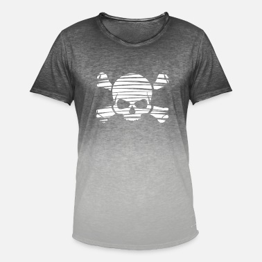 Skull - Men's Colour Gradient T-Shirt