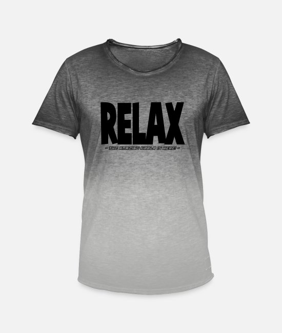 Relax T-Shirts - relax the amazing karla is here - Men's Colour Gradient T-Shirt dip dye grey