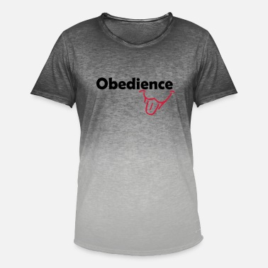 Obedience Obedience is Fun - Men's Colour Gradient T-Shirt