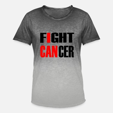 Fight Fight Cancer 1- fight against cancer - Men's Colour Gradient T-Shirt