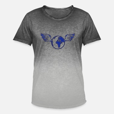 Poverty earth with wings - Men's Colour Gradient T-Shirt