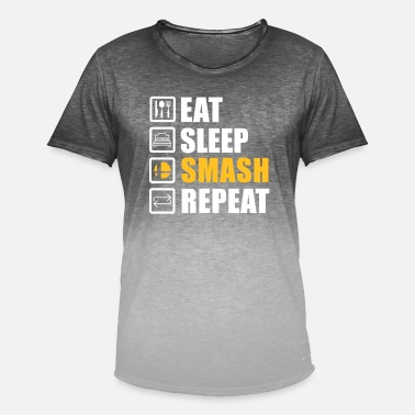 Bros eat sleep smash repeat - Männer Farbverlauf T-Shirt