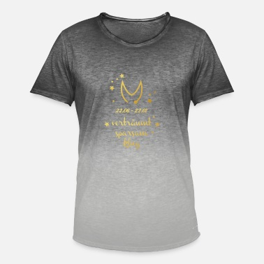 Symbolen Zodiac Cancer Gold Horoscope Birth Symbol - Mannen kleurverloop T-Shirt