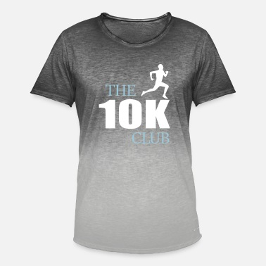 the ten k club jogging design - Men's Colour Gradient T-Shirt