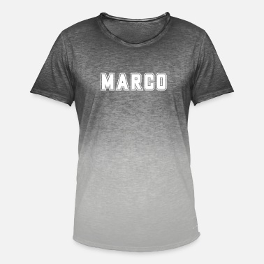 Marco College Marco First name Baby name Boy name Gift - Men's Colour Gradient T-Shirt