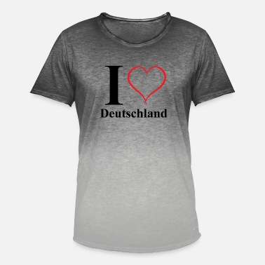 I love Germany - Men's Colour Gradient T-Shirt