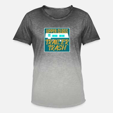 Trailer Trash Upper Class Trailer Trash I Camping - Mannen kleurverloop T-Shirt