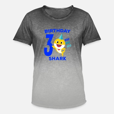 Baby Baby Shark 3rd Birthday - Baby Shark Song Gifts - Men's Colour Gradient T-Shirt