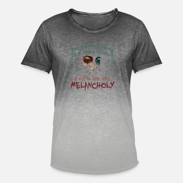Melancholy Love | Edgar Allan Poe - Men's Colour Gradient T-Shirt