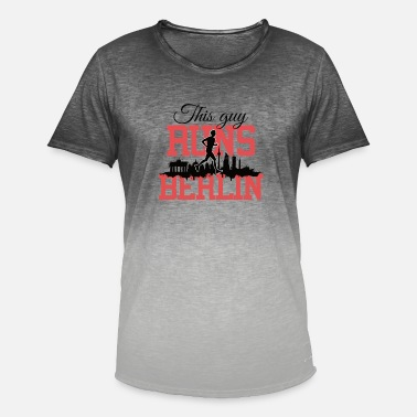 Marathon This guy runs Berlin Marathon Running Shirt black - Men's Colour Gradient T-Shirt