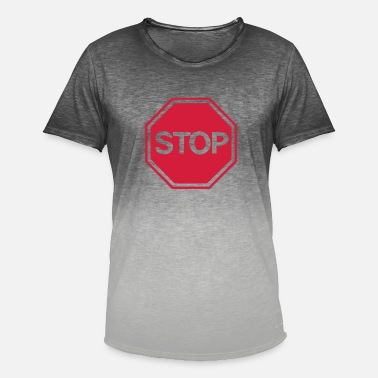 Stop stop sign - Men's Colour Gradient T-Shirt